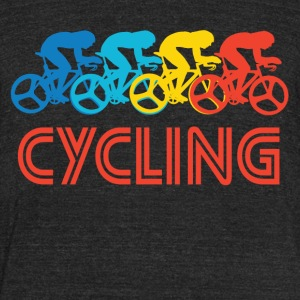Retro Cycling Pop Art - Unisex Tri-Blend T-Shirt by American Apparel
