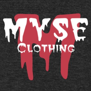 MYSE clothing logo - red & white - Unisex Tri-Blend T-Shirt by American Apparel
