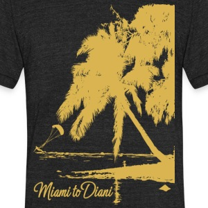 Miami To Diani Gold Collection - Unisex Tri-Blend T-Shirt by American Apparel