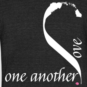 Love one another in white - Unisex Tri-Blend T-Shirt by American Apparel