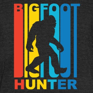 Vintage Bigfoot Hunter Graphic - Unisex Tri-Blend T-Shirt by American Apparel
