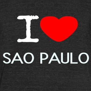 I LOVE SAO PAULO - Unisex Tri-Blend T-Shirt by American Apparel