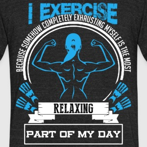 I EXERCISE SHIRT - Unisex Tri-Blend T-Shirt by American Apparel