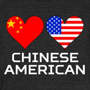 Chinese American Hearts - Unisex Tri-Blend T-Shirt by American Apparel