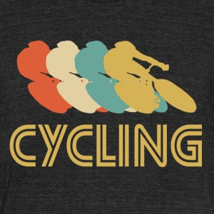 Cycling Pop Art - Unisex Tri-Blend T-Shirt by American Apparel