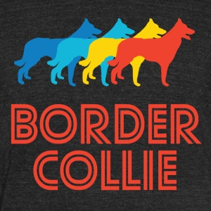 Border Collie Pop Art - Unisex Tri-Blend T-Shirt by American Apparel