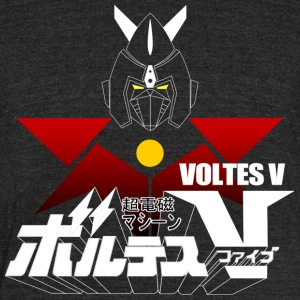 JAPAN CLASSIC RETRO ANIME ROBOT VOLTES V FIVE - Unisex Tri-Blend T-Shirt by American Apparel