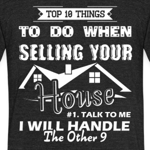 Real Estate Agent Shirt - Unisex Tri-Blend T-Shirt by American Apparel