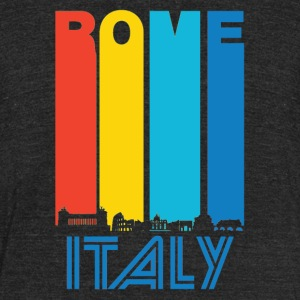 Retro Rome Skyline - Unisex Tri-Blend T-Shirt by American Apparel