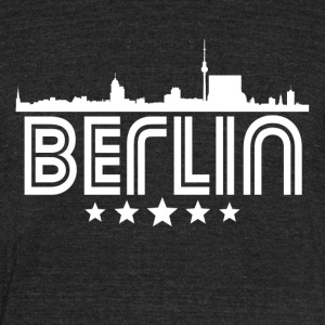Retro Berlin Skyline - Unisex Tri-Blend T-Shirt by American Apparel