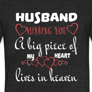 My Husband In Heaven T Shirt - Unisex Tri-Blend T-Shirt by American Apparel