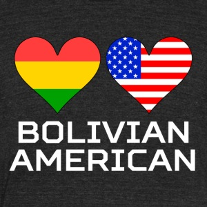 Bolivian American Hearts - Unisex Tri-Blend T-Shirt by American Apparel