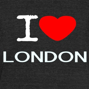 I LOVE LONDON - Unisex Tri-Blend T-Shirt by American Apparel