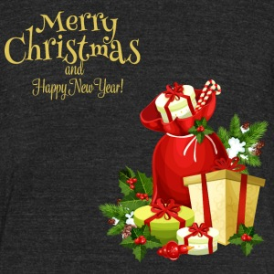 Merry-Christmas-Happy-New-Year - Unisex Tri-Blend T-Shirt by American Apparel
