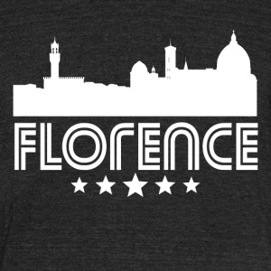 Retro Florence Skyline - Unisex Tri-Blend T-Shirt by American Apparel