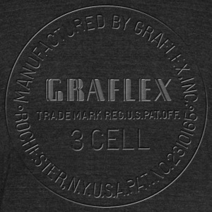 Graflex clean Stamp black or white - Unisex Tri-Blend T-Shirt by American Apparel