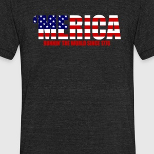 Running The World Since 1776 - Unisex Tri-Blend T-Shirt by American Apparel