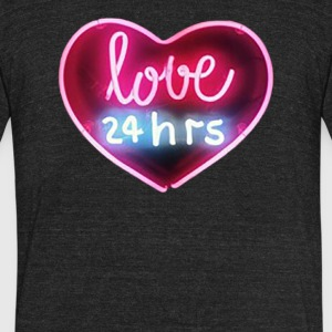 Love 24hrs Neon - Unisex Tri-Blend T-Shirt by American Apparel