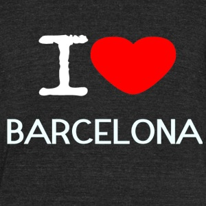I LOVE BARCELONA - Unisex Tri-Blend T-Shirt by American Apparel