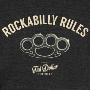 Rockabilly Rules - Unisex Tri-Blend T-Shirt by American Apparel