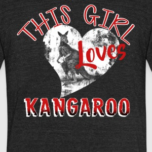 Girl Loves Her Kangaroo Shirt - Unisex Tri-Blend T-Shirt by American Apparel