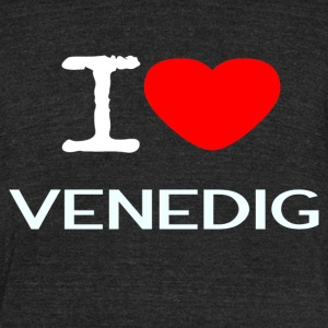 I LOVE VENEDIG - Unisex Tri-Blend T-Shirt by American Apparel