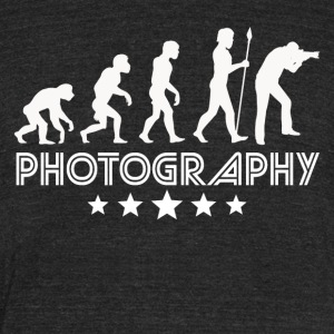 Retro Photography Evolution - Unisex Tri-Blend T-Shirt by American Apparel