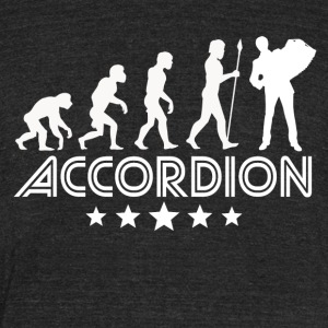 Retro Accordion Evolution - Unisex Tri-Blend T-Shirt by American Apparel