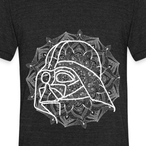 Darth Vader in mandala - Unisex Tri-Blend T-Shirt by American Apparel