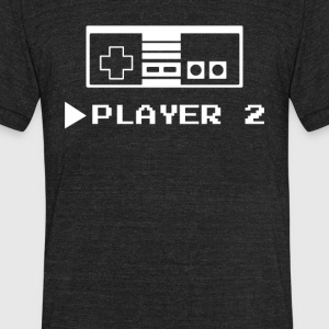 Player 1 or 2 - Unisex Tri-Blend T-Shirt by American Apparel