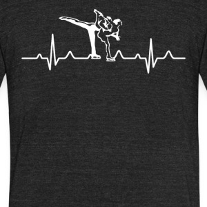 Figure Skating Heartbeat Shirt - Unisex Tri-Blend T-Shirt by American Apparel