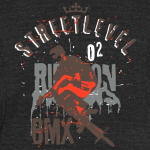 Street level BMX - Unisex Tri-Blend T-Shirt by American Apparel