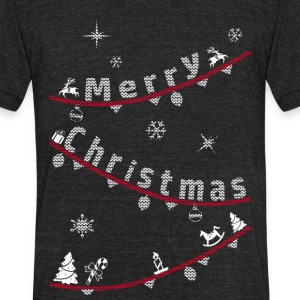 Merry Christmas - Unisex Tri-Blend T-Shirt by American Apparel