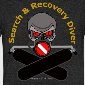 Search and Recovery Diver (Gold Letters) - Unisex Tri-Blend T-Shirt by American Apparel
