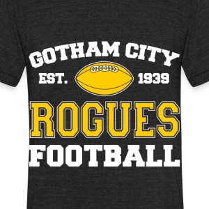 Gotham City Rogues Football Team - Unisex Tri-Blend T-Shirt by American Apparel