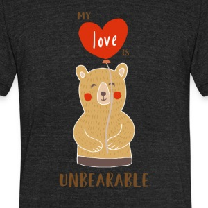 Cute My Love Is Unbearable - Unisex Tri-Blend T-Shirt by American Apparel