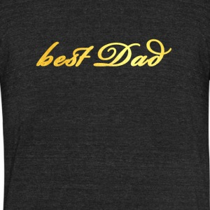 best Dad - Unisex Tri-Blend T-Shirt by American Apparel