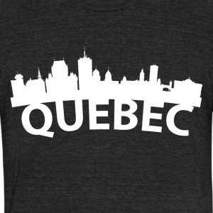 Arc Skyline Of Quebec City Canada - Unisex Tri-Blend T-Shirt by American Apparel