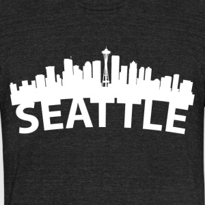 Arc Skyline Of Seattle WA - Unisex Tri-Blend T-Shirt by American Apparel