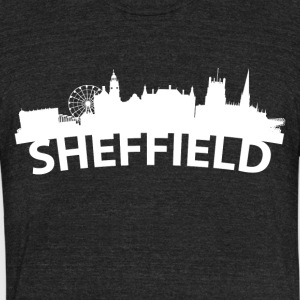 Arc Skyline Of Sheffield England - Unisex Tri-Blend T-Shirt by American Apparel