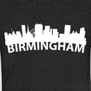 Arc Skyline Of Birmingham England - Unisex Tri-Blend T-Shirt by American Apparel