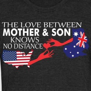Mother & Son Love Knows No Distance US & Australia - Unisex Tri-Blend T-Shirt by American Apparel
