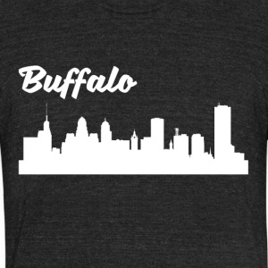 Buffalo NY Skyline - Unisex Tri-Blend T-Shirt by American Apparel