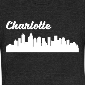 Charlotte NC Skyline - Unisex Tri-Blend T-Shirt by American Apparel