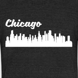 Chicago IL Skyline - Unisex Tri-Blend T-Shirt by American Apparel