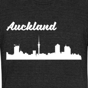 Auckland Skyline - Unisex Tri-Blend T-Shirt by American Apparel