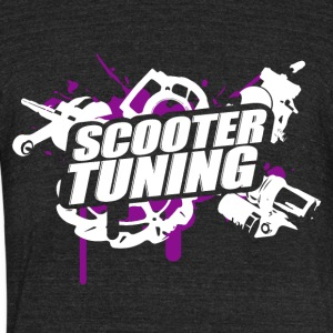 Scootertuning purple/white - Unisex Tri-Blend T-Shirt by American Apparel