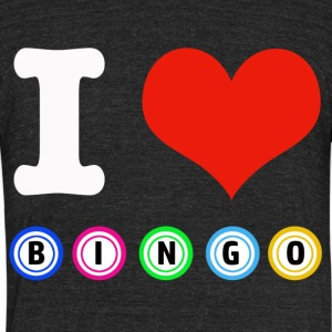 I love Bingo designs - Unisex Tri-Blend T-Shirt by American Apparel