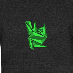 Green Neo Shards - Unisex Tri-Blend T-Shirt by American Apparel