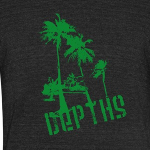 DEPTHS Palm trees - Unisex Tri-Blend T-Shirt by American Apparel